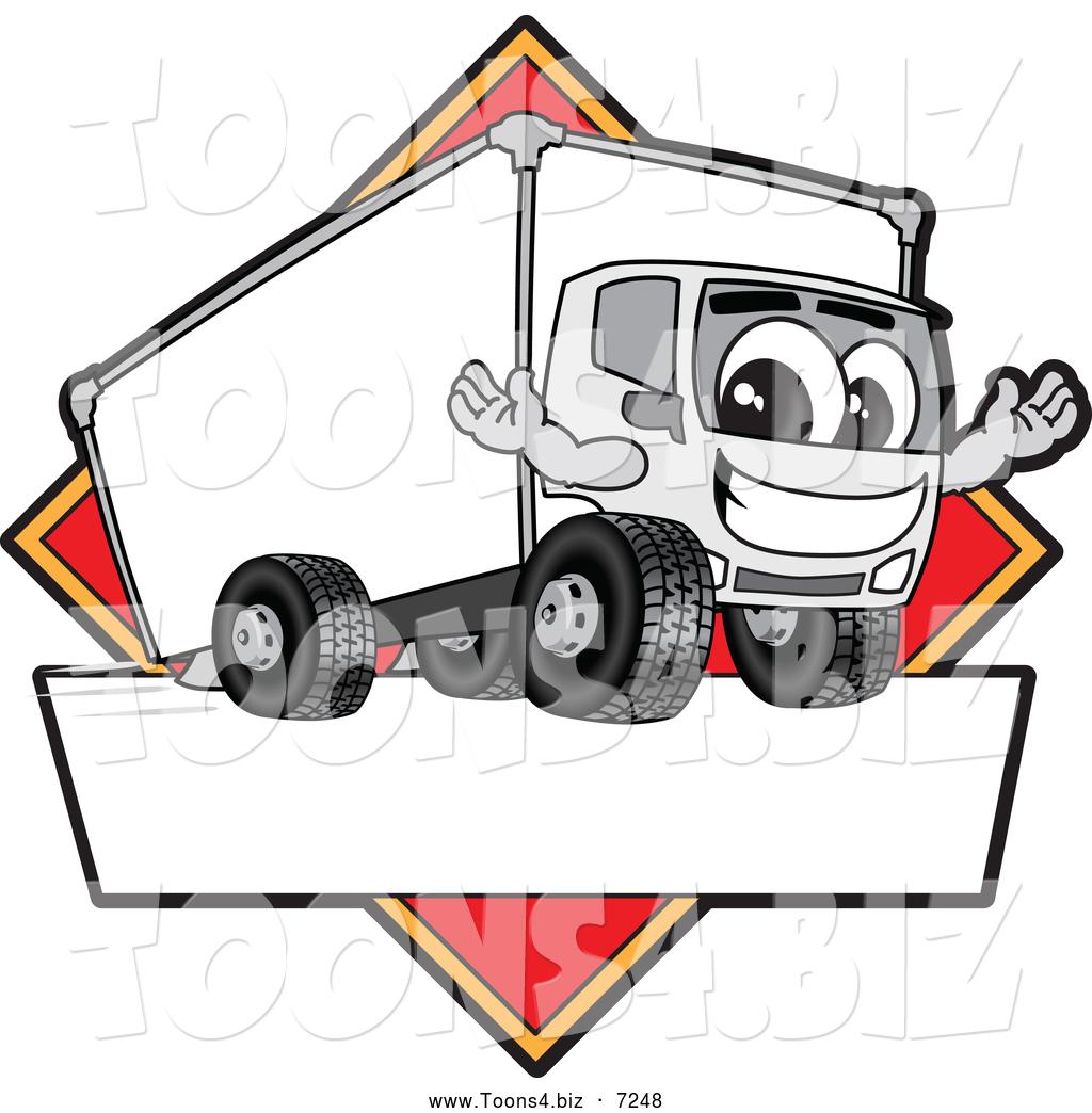 1024x1044 Vector Illustration Of A Happy Delivery Big Rig Truck Mascot