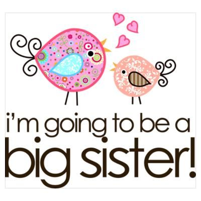 400x400 Cafepress Gt Wall Art Gt Posters Gt I'M Going To Be Big Sister Whimsy