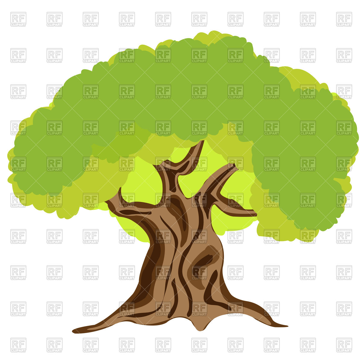1200x1200 Big Tree Royalty Free Vector Clip Art Image