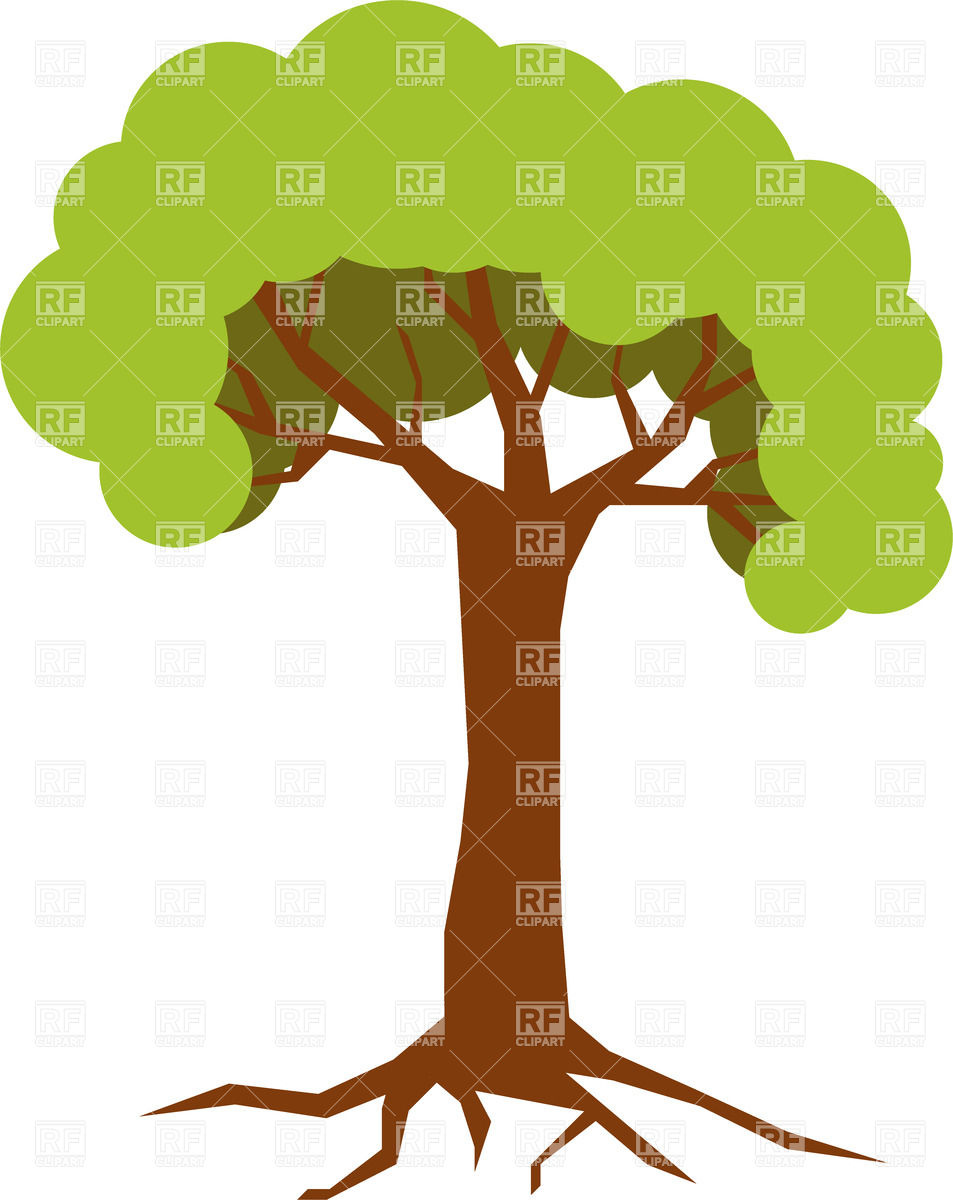 953x1200 Big Tree Curly Crown Royalty Free Vector Clip Art Image