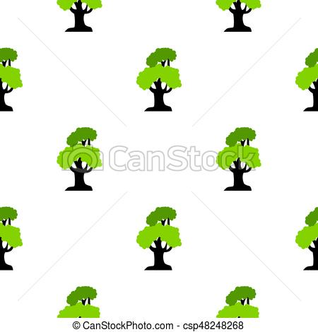 450x470 Big Tree Pattern Flat. Big Tree Pattern Seamless Flat Style