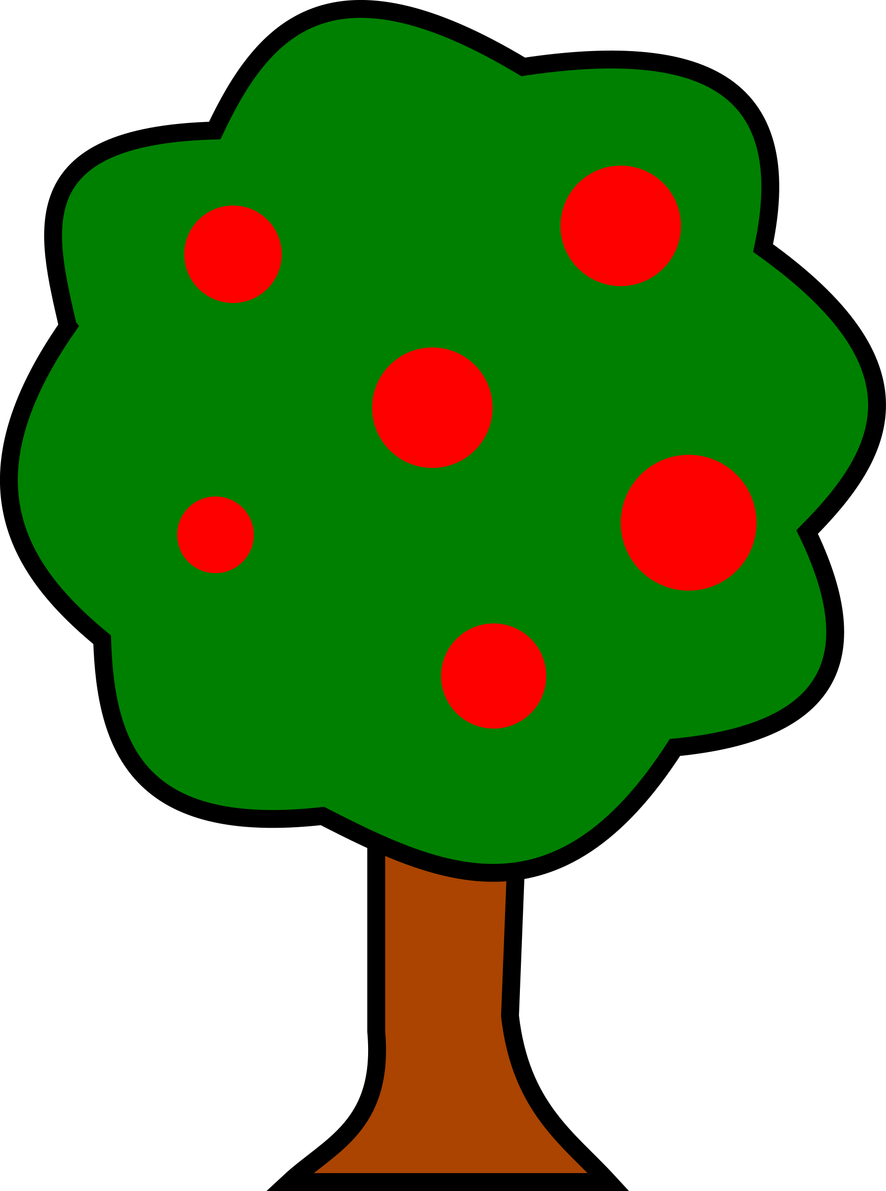 1786x2400 Clipart For Fruit Tree