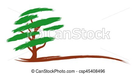 450x244 Logo Green Tree. Logo Of The Stylized Green Big Tree. Eps Vectors
