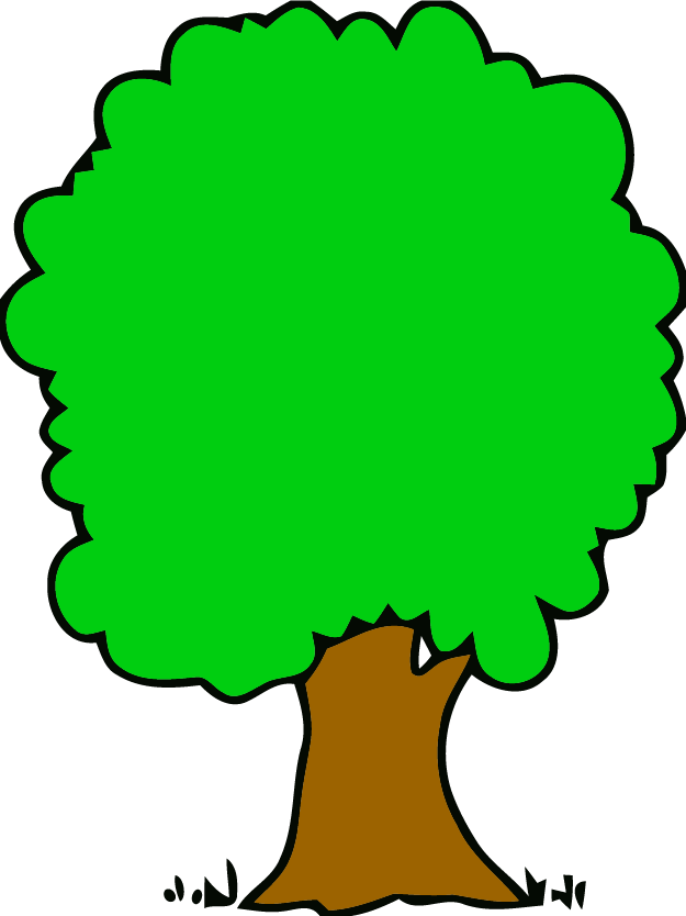 625x834 Malachite Green Big Tree Clipart Png