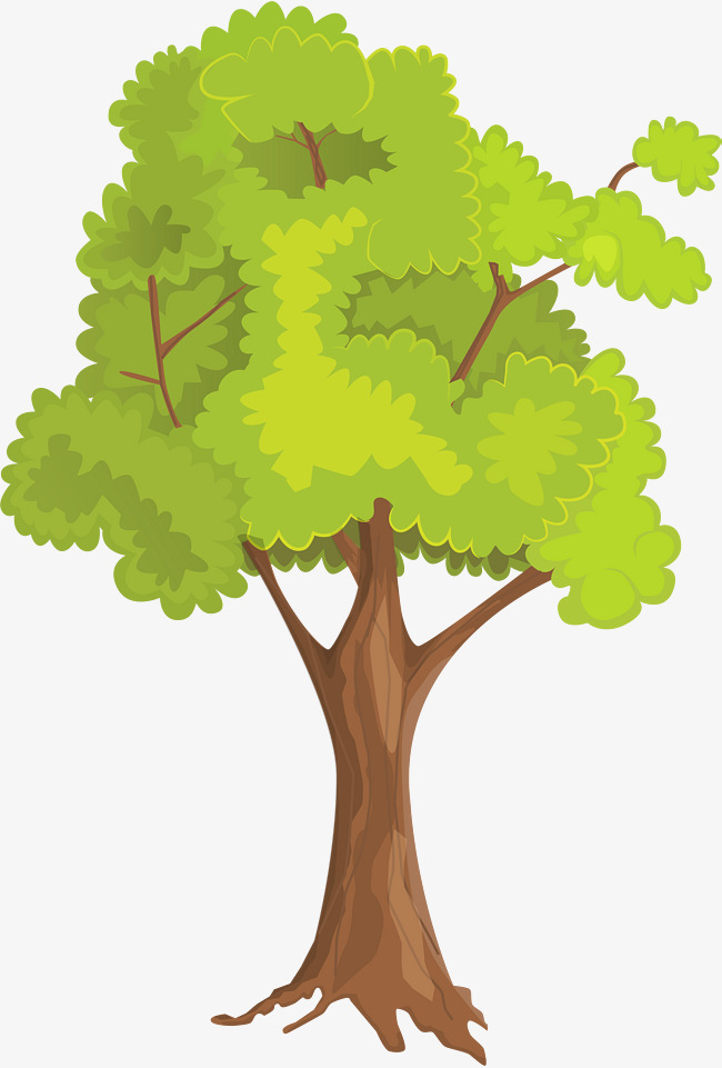 650x961 Small Fresh Green Big Tree, Little Fresh Tree, Simple Tree