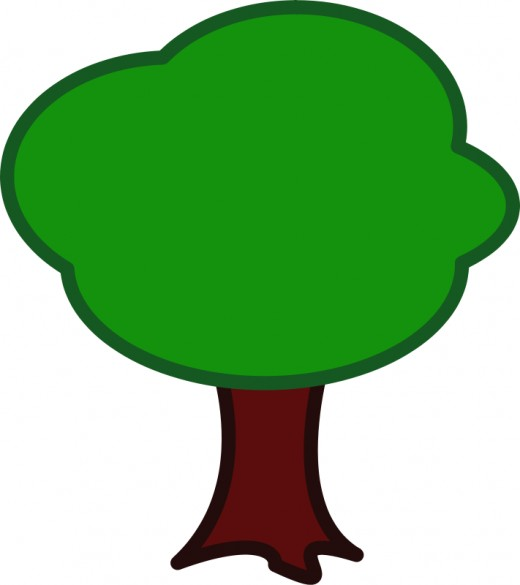 520x585 Tree Clip Art 175 Free Clip Art Trees Hubpages