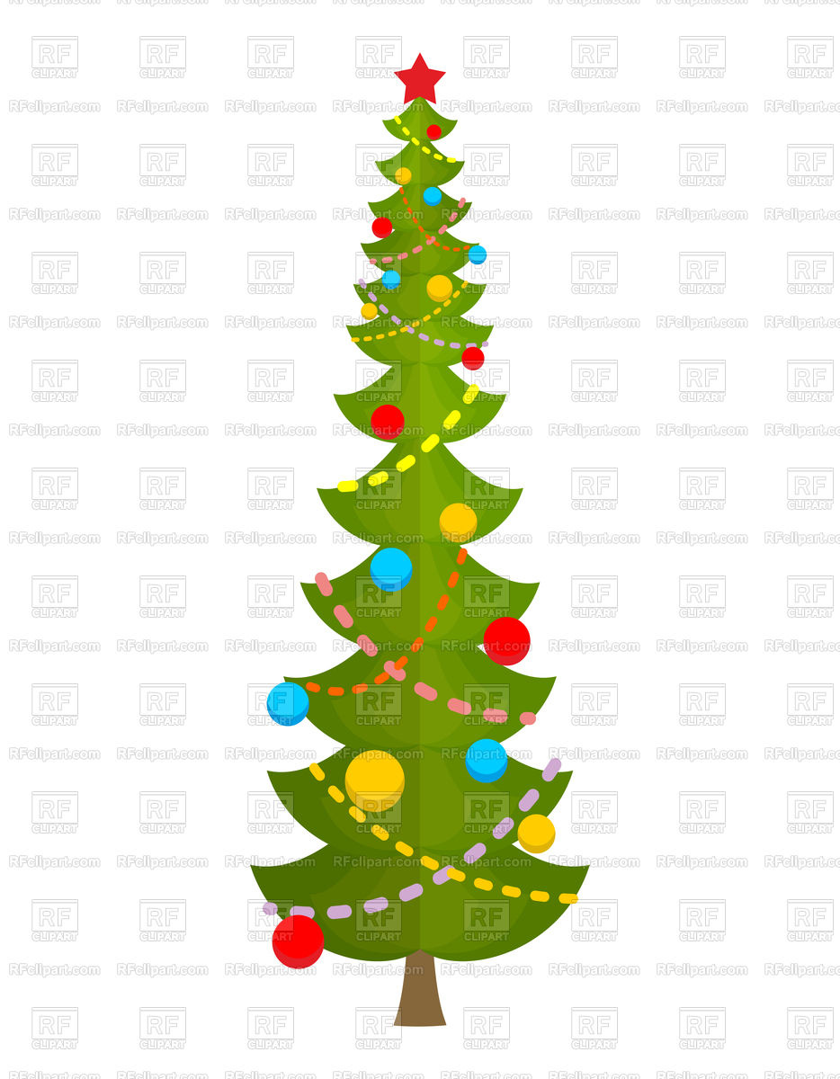 934x1200 Big Christmas Tree Royalty Free Vector Clip Art Image