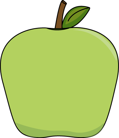 397x460 Big Green Apple Clip Art Image Printables Amp Tutorials