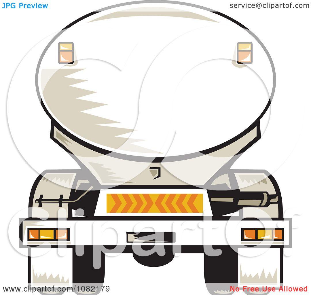 1080x1024 Clipart Rear Vview Of A Tanker Big Rig Truck