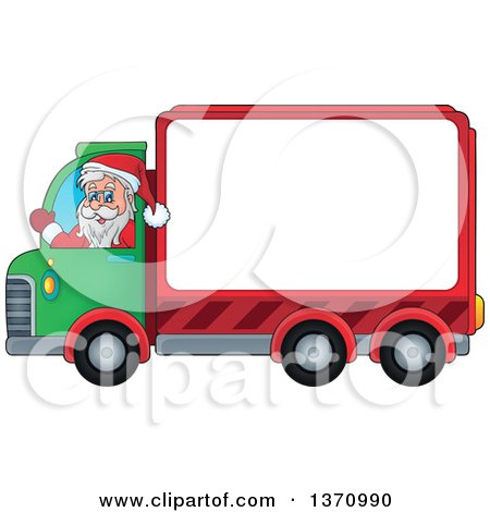 450x470 Clipart Of A Cartoon Happy White Man Driving A Delivery Truck