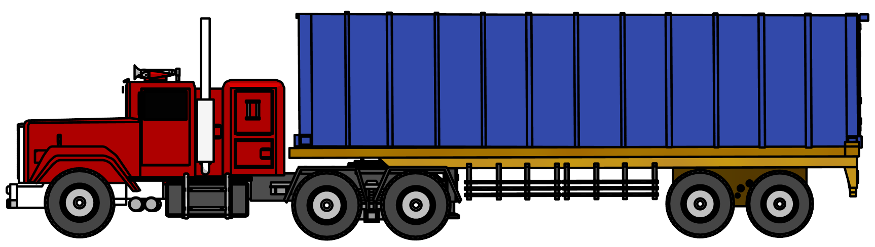 1726x489 Industrial Truck Big Truck Clipart Png Image Side View