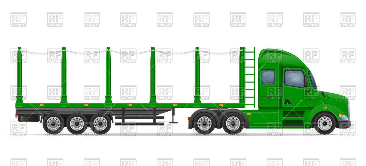 1200x546 Side View Truck Semi Trailer For Transportation Of Goods Royalty