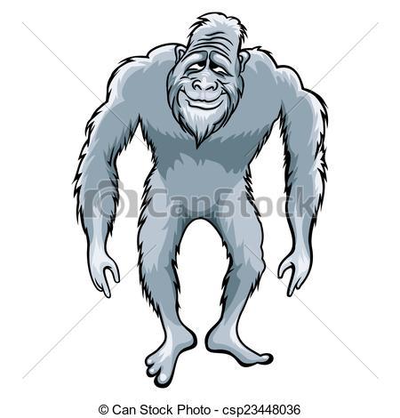 450x470 Bigfoot Illustration. Bigfoot Or Sasquatch Vector Vectors