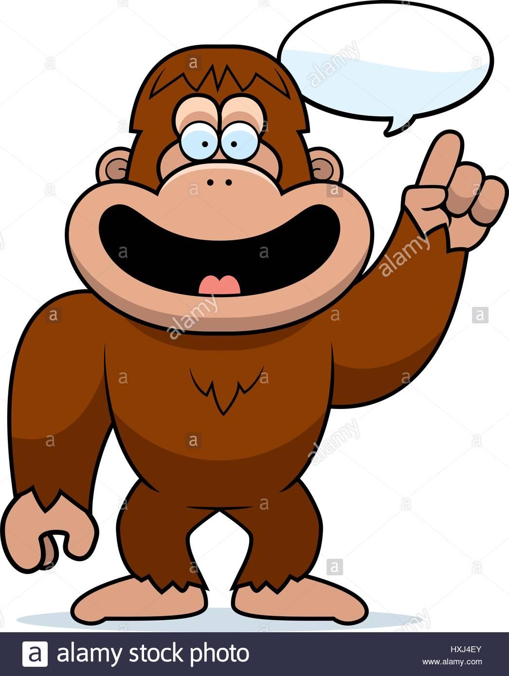 1046x1390 A Cartoon Illustration Of A Bigfoot Talking Stock Vector Art