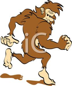 251x300 Cartoon Of A Bigfoot Or Sasquatch