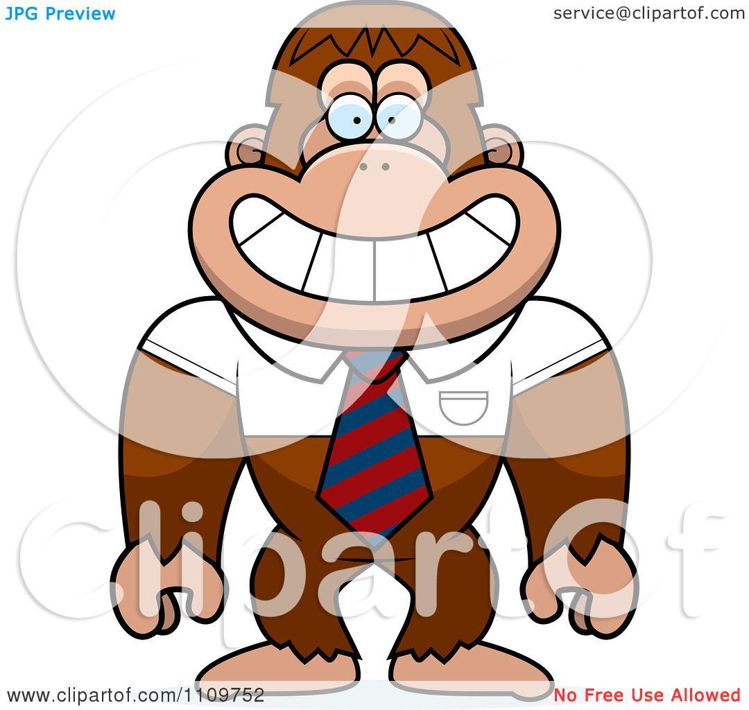 1080x1024 Clipart Bigfoot Sasquatch Wearing A Tie And Shirt
