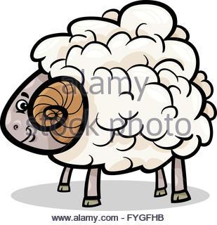 309x320 Ram Mascot Cartoon Vector Illustration Stock Vector Art