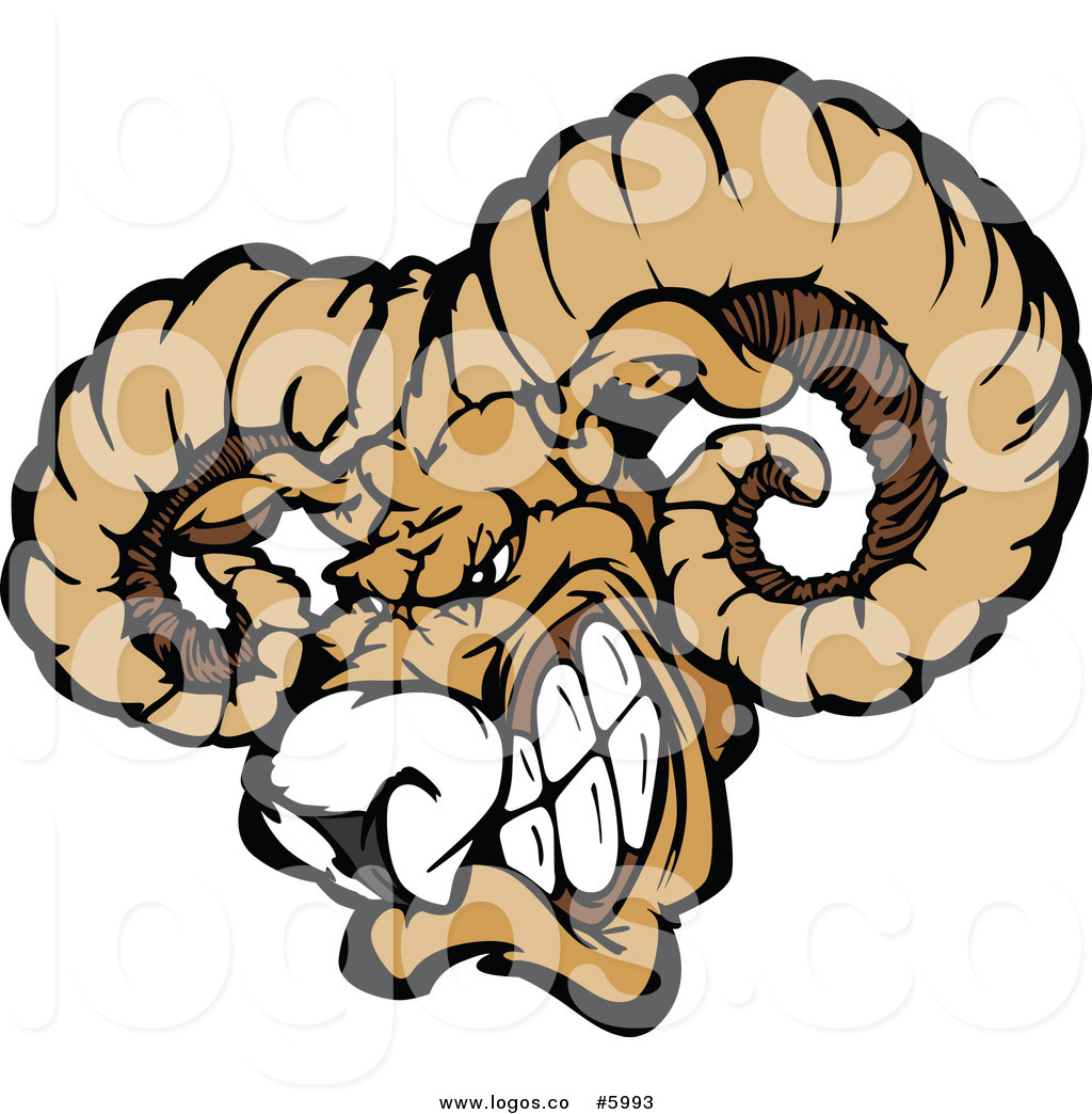 1024x1044 Royalty Free Vector Of A Logo Of A Vicious Ram Mascot Head By