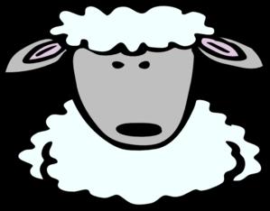 299x234 Sheep Head Clipart