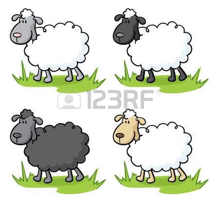 450x409 Little Sheep Clipart