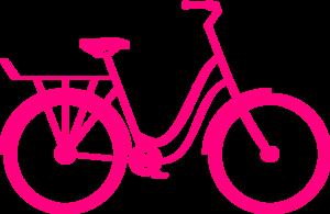 300x195 Pink Bike Clip Art