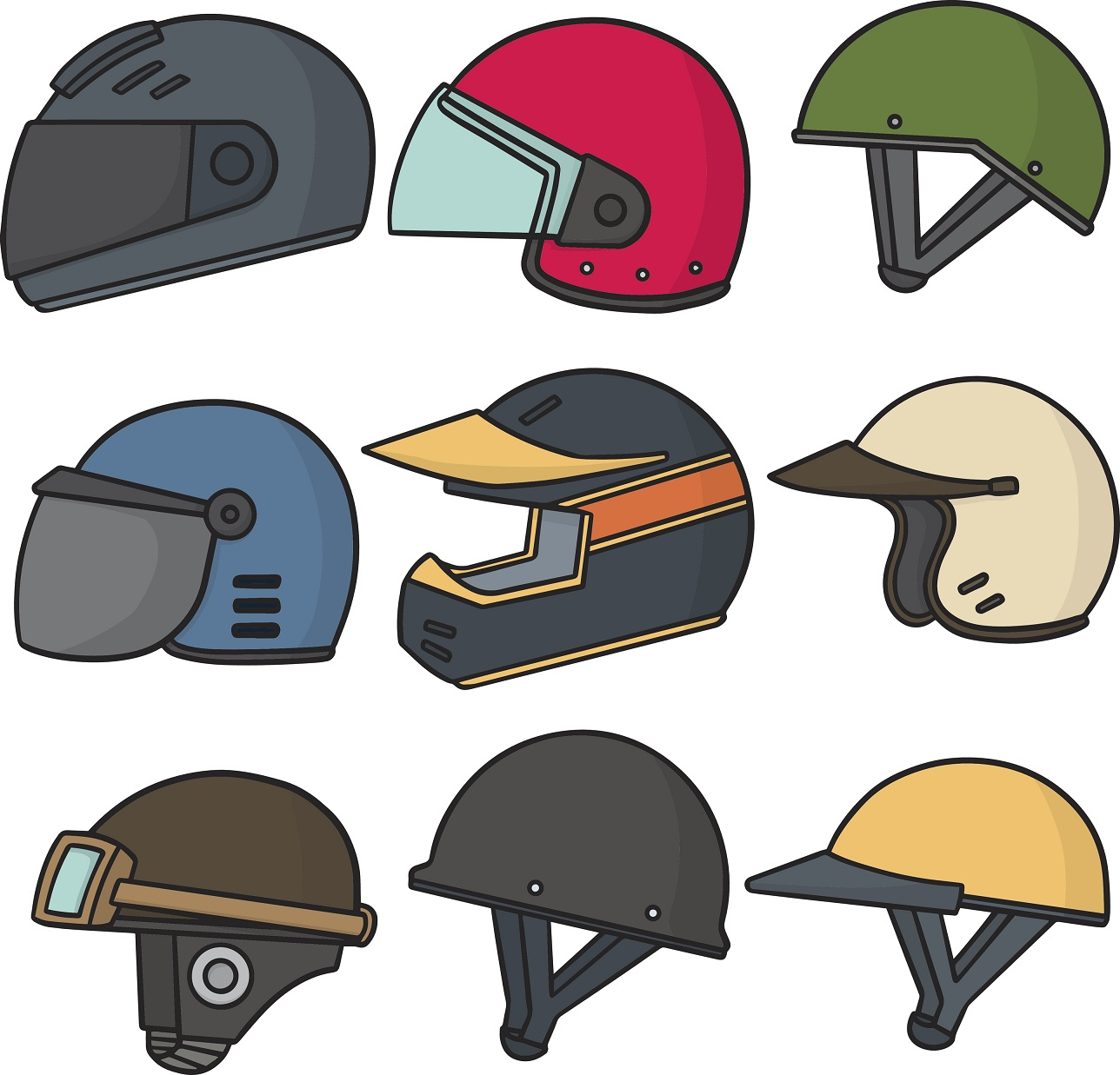 1288x1237 Motorcycle Helmet Types And Safety Features For Ohio Motorcyclists