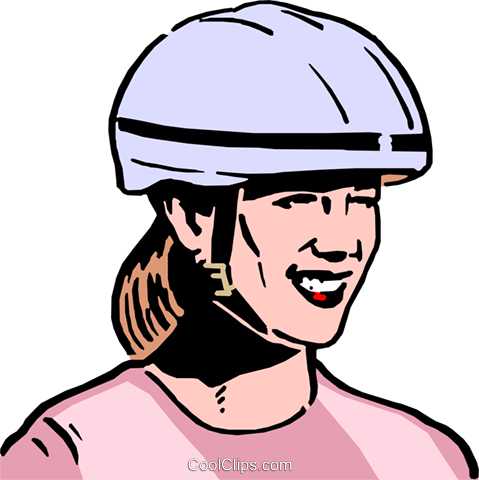 479x480 Woman Wearing Safety Helmet Royalty Free Vector Clip Art