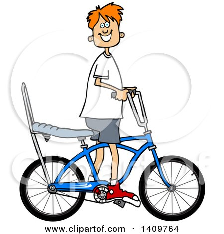 450x470 Clipart Of A Cartoon Caucasian Gentleman Riding A Penny Farthing