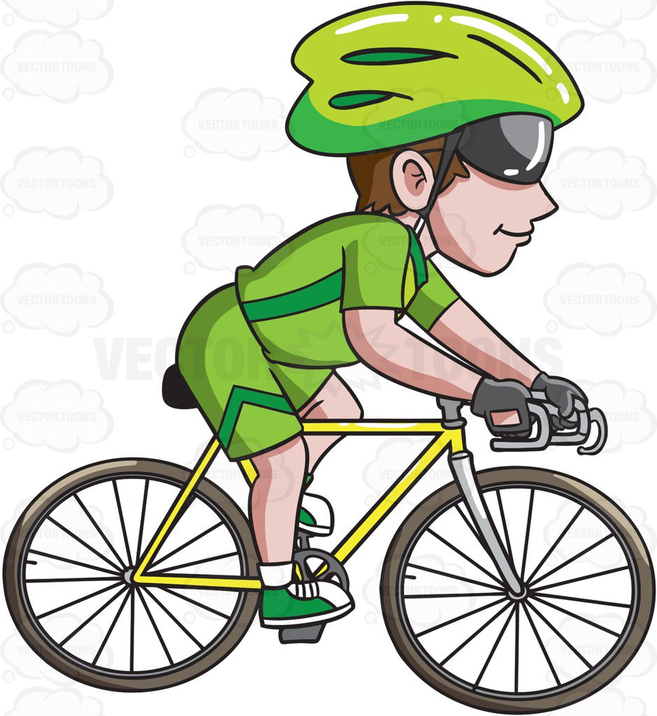 940x1024 A Man Riding A Road Bike Cartoon Clipart Vector Toons