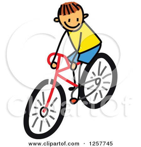 450x470 Royalty Free (Rf) Bike Riding Clipart, Illustrations, Vector