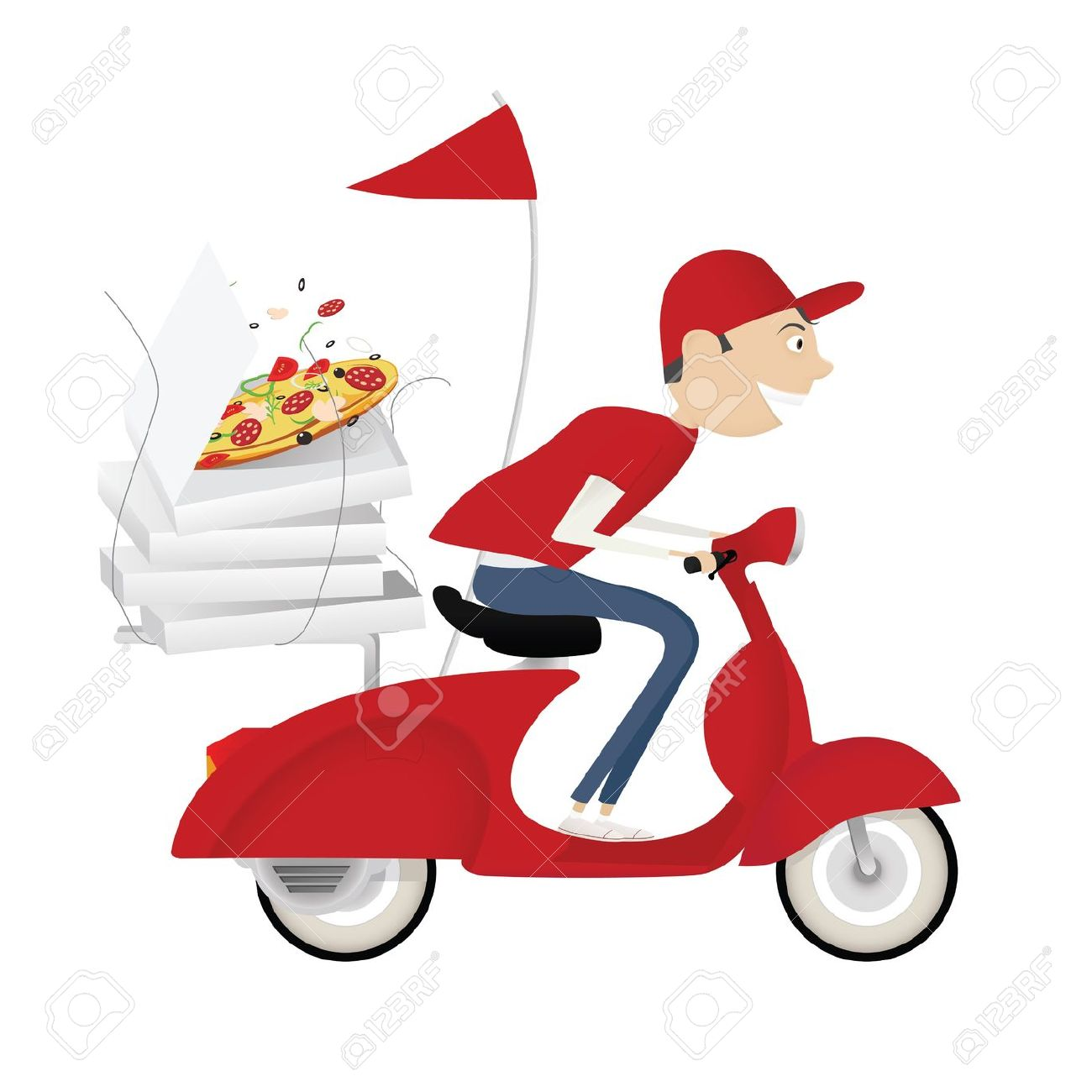 1300x1300 Bike Clipart Pizza Delivery