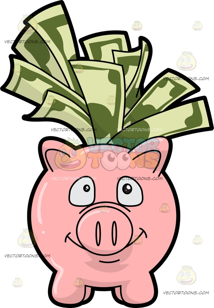 712x1024 Clipart Pig Bank With Dollars Amp Clip Art Pig Bank With Dollars