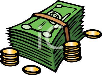 350x259 Clipart Money Bill