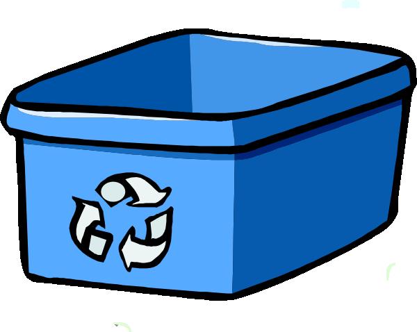 600x478 Recycle Bin Blue Clip Art