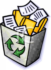 216x300 Recycle Paper Clipart