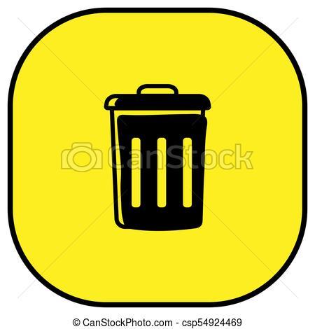 450x470 Trash Bin Vector Icon. Rubbish Bin Icon Vector Illustration