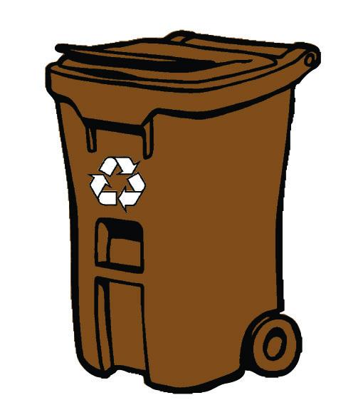 510x582 Brown Clipart Recycle Bin