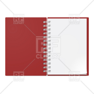 400x400 Open Notebook With Ring Binder Royalty Free Vector Clip Art Image