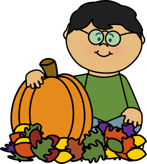 471x525 Boy Sitting In Leaves With A Pumpkin By Mycutegraphics Fall Clip