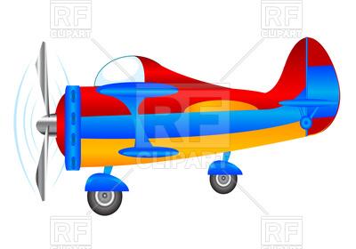 400x280 Cartoon Small Plane Royalty Free Vector Clip Art Image