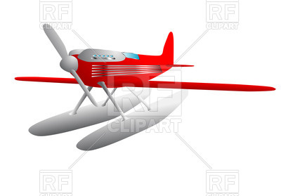 400x279 Hydroplane Royalty Free Vector Clip Art Image