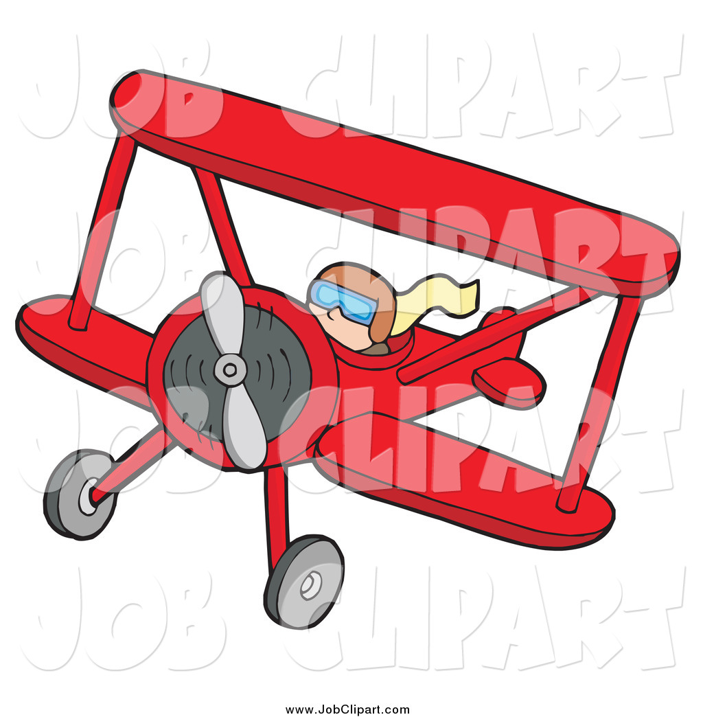 1024x1044 Job Clip Art Of A Pilot In A Red Biplane By Visekart