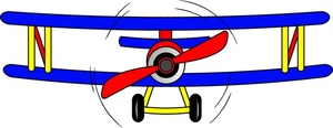 300x116 Propeller Plane Clipart