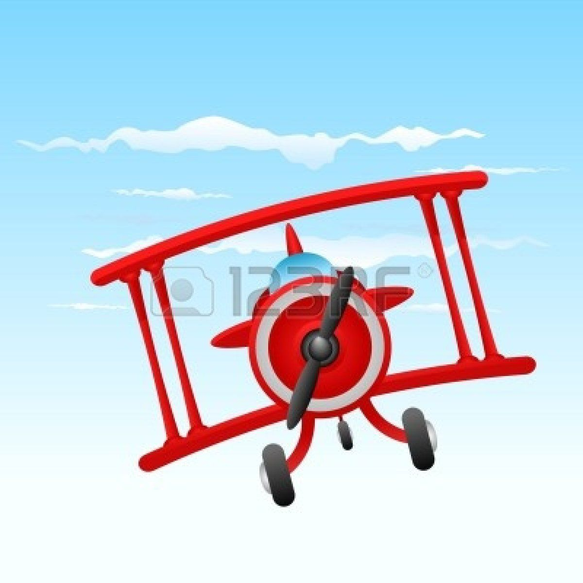 1200x1200 Red Biplane Clipart Blue Biplane Clipart Vintage Ck Theme