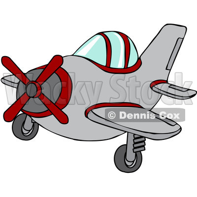 400x400 Royalty Free Vector Clip Art Illustration Of A Small Plane Djart