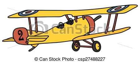 450x200 Yellow Biplane Vector Clipart Eps Images. 50 Yellow Biplane Clip