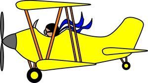 300x169 Airplane Cartoon Clip Art Biplane Clip Art Images Biplane Stock