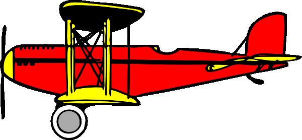 600x278 Biplane Clip Art