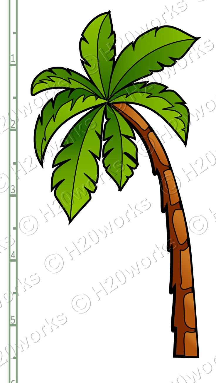 736x1305 Clipart Of Palm Tree