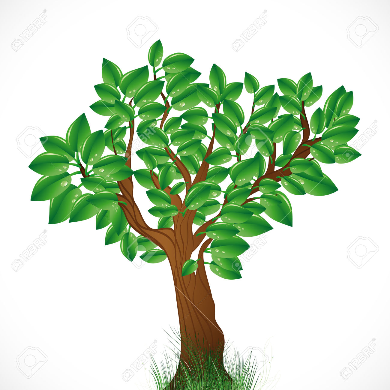 1300x1300 Green Tree Clip Art Clipart Collection
